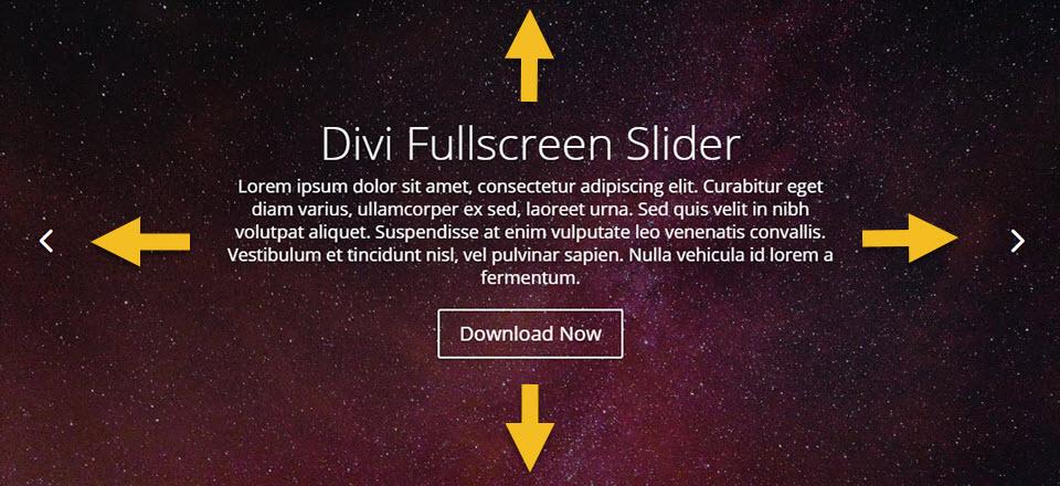 Créer un Slider plein écran avec Divi